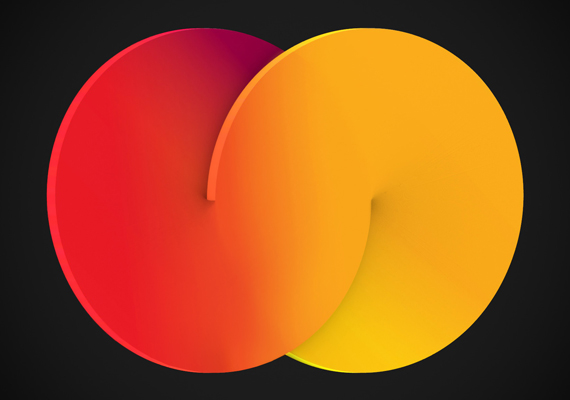 Concept for Mastercard logo redesign.